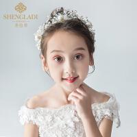 儿童皇冠头饰公主女童王冠水晶大发箍头花小女孩生日发饰