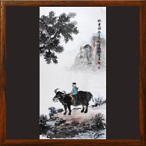 《牧童图》李成永 中国艺术家联合会副会长 国家一级美术师R4579