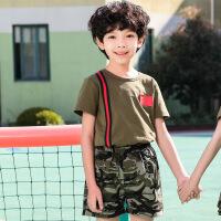 【新品特惠】迷彩服套装短袖男夏特种兵女童运动服合唱六一儿童演出服