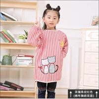 加棉小男孩罩衣宝宝男童婴幼儿加厚薄款加长款儿童画画衣中大带袖