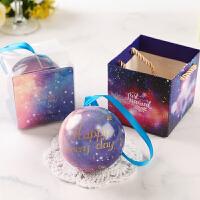 欧式结婚喜糖盒星空精灵球形糖果口铁盒子礼物包装盒婚礼礼盒1