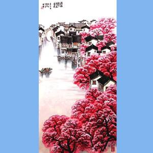 国家一级美术师,中美协会员,中国当代书画名家协会会员,南京金箔集团特约画家陈胜杰(红江南)