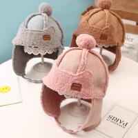 儿童秋冬款护耳仿羊羔毛帽宝宝保暖绒帽子男孩女孩