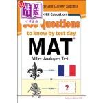 【中商海外直订】McGraw-Hill Education 500 MAT Questions to Know by