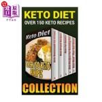 【中商海外直订】Keto Diet: Over 150 Keto Recipes