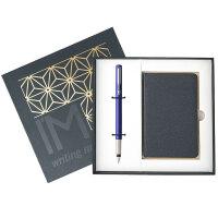 【24小时闪电发货】PARKER 派克 威雅蓝色胶杆墨水笔/钢笔+笔记本礼盒套装 商务礼品