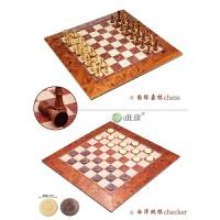 友邦大号国际象棋 2806 仿桃木色棋盘磁性棋子 现在无西洋跳棋