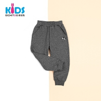 EICHITOO KIDS爱居兔童装2018冬季新品男小童纯色休闲针织裤