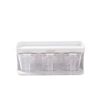 厨房调味盒塑料透明按压式调味罐收纳盒套装免打孔密封防潮