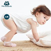 【99选3】迷你巴拉巴拉婴儿三角衣夏装新款爬服女宝宝包屁衣纯色可爱连体衣