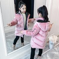 儿童冬季2018新款中长款加厚棉服韩版女孩外套