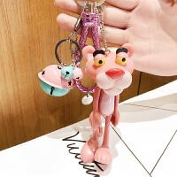 粉红豹挂件粉红豹钥匙扣汽车挂饰粉色顽皮豹礼品小挂件饰品手机配件娃娃摆件