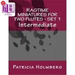 【中商海外直订】Ragtime Miniatures for Two Flutes - Set 1