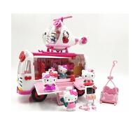 凯蒂猫hellokitty玩具冰淇淋雪糕大巴车男女孩过家家宝宝玩具套装
