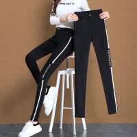 秋冬外穿打底裤女士铅笔裤修身小脚裤弹力小个子黑色淑女休闲裤子