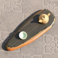 金皮籽料原石干泡台系列厚款石头茶盘壶承茶托茶具端砚茶海