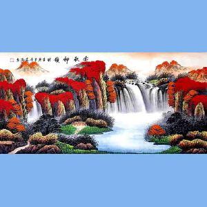 国家一级美术师,中国书画家协会会员,中国山水画研究院研究员范海(金秋神韵)