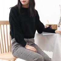 K@30 毛衣女2019新款韩版秋季长袖宽松套头纯色时尚保暖上衣C1