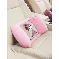 汽车腰靠车载座椅靠背可爱车用靠垫一对司机护腰头枕女用品