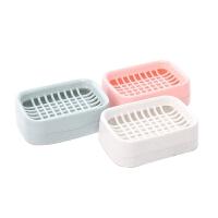 浴室厨房卫生间肥皂盒香皂架简约双层沥水香皂盒肥皂架 颜色随机