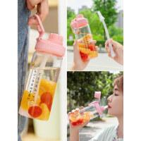 吸管水杯女玻璃杯学生创意可爱便携韩版个性潮流夏天少女网红杯子