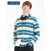 2.5折价:89;Lilbetter男士卫衣春秋款韩版潮流秋季上衣ins条纹长袖圆领打底衫