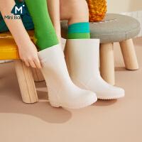 【618年中庆 限时秒杀价:89】迷你巴拉巴拉儿童雨靴2020夏装新款男童女童宝宝洋气耐磨防滑雨鞋