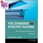 【中商海外直订】Five Standards for Effective Teaching: How to Succe