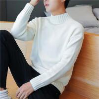 毛衣男加厚保暖纯色半高领打底针织衫线衣男装宽松韩版男士毛衫潮
