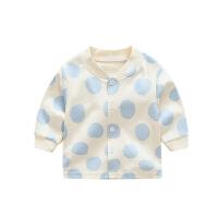 婴儿秋衣宝宝单件上衣新生儿秋装0女童内衣1长袖2打底开衫3岁