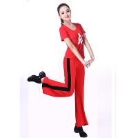 广场舞服装新款套装舞蹈服女练功服短袖瑜伽服春夏莫代尔