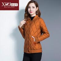 韩版冬装棉衣外套短款妈妈装冬季保暖小棉袄立领百搭女