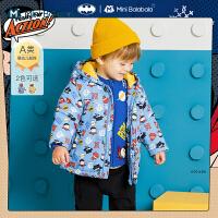 DC超人IP迷你巴拉巴拉婴儿棉服2020冬新款男宝宝加厚保暖棉衣