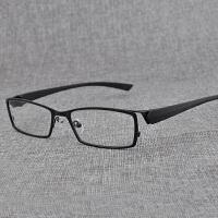 20180828110559635眼镜 男士平光镜 方形个性金属全框近视眼镜框架