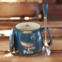 咖啡杯带盖 陶瓷马克杯燕麦片杯女生水杯大号口杯牛奶杯子520礼物教师节礼物