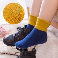 儿童袜子棉秋冬3-5-7-9-12岁中筒松口男童女童中大童加厚加绒