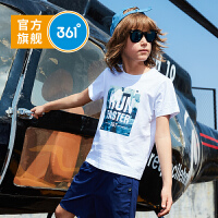 【下单立减】361度童装 男童T恤2019夏季新品儿童短袖舒适透气上衣N51923202