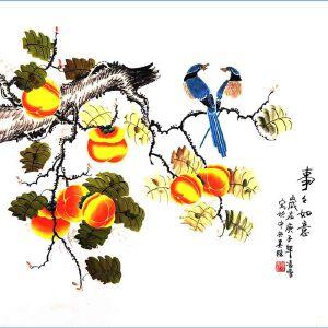 北京市美术家协会会员,北京市著名工笔画画家凌雪(事事如意)