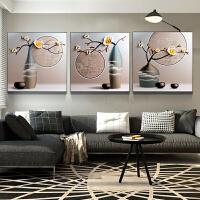 客厅浮雕装饰画卧室壁画新中式电视背景墙现代3D立体餐厅玄关挂画 祥瑞福气 60*60 12mm薄板 三联画