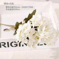 假花玫瑰花仿真花束摆件向日葵干花塑料花室内客厅餐桌装饰品摆设A 天蓝色 白色绣球