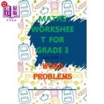 【中商海外直订】Maths Worksheet for Grade 3 Volume 4 Word Problems:
