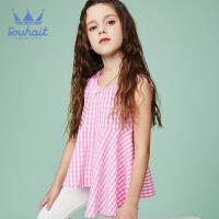 【3件3折:68元】souhait水孩儿童装夏季新款儿童裙式上衣女童圆领衫夏季T恤SHNXGD12CZ544