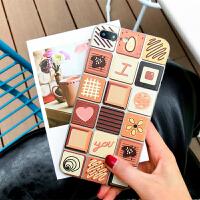 巧克力手机壳苹果6s女款iphonex软壳个性创意7plus/8保护套硅胶潮
