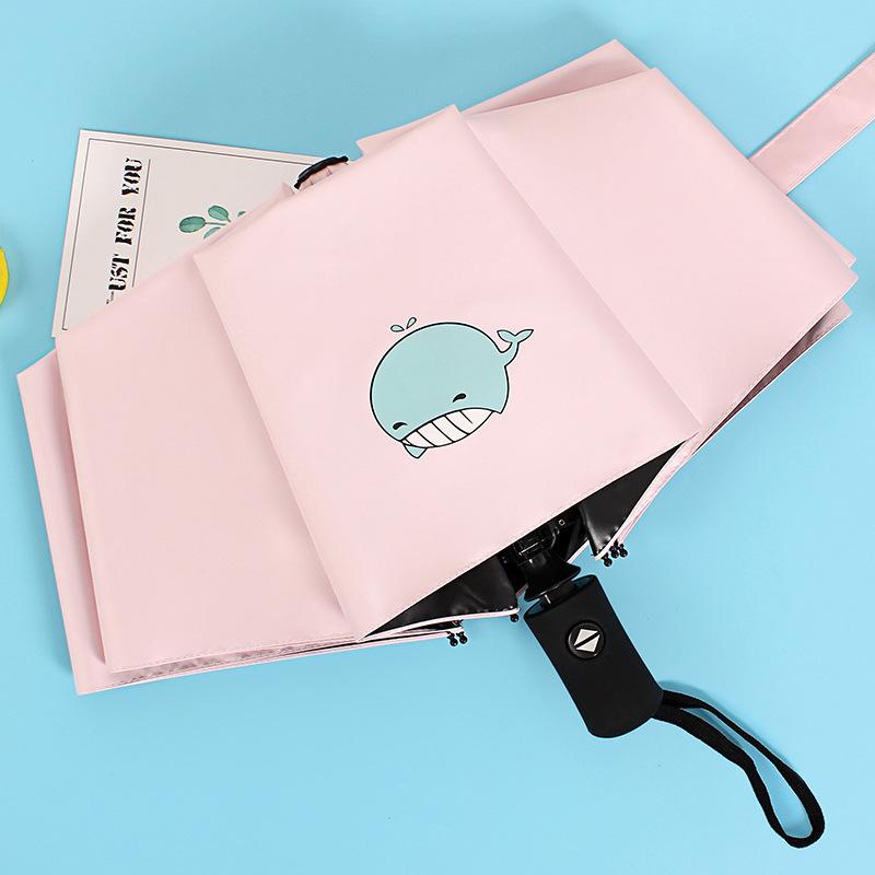 全自动雨伞女晴雨两用防晒伞遮阳伞黑胶防紫外线森系太阳伞