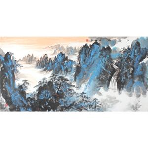 健松 《山川溢彩》 139*68cm