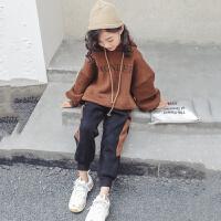儿童套装秋冬季2018新款韩版洋气卫衣两件套女孩时髦潮