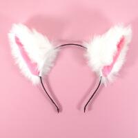 毛绒可爱猫耳朵发箍发夹洛丽塔头饰发卡萌猫咪软妹女仆发饰女