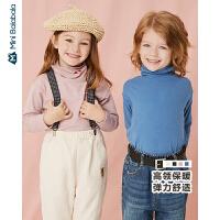 迷你巴拉巴拉男童女童宝宝长袖T恤高领打底衫儿童上衣2019秋装