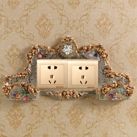 欧式客厅开关贴墙贴保护套韩亚克力创意手机插座家居