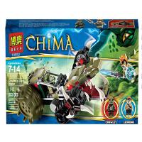 博乐10052赤马神兽le高气功传奇黄金鳄巨爪粉碎车拼装积木玩具